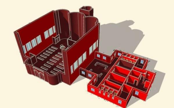 Progetto 3D del Laboratorio di Architettura del Liceo Artistico Umberto Brunelleschi di Montemurlo